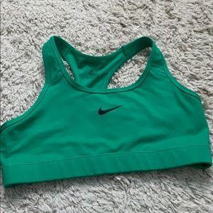 Green dri fit sports bra